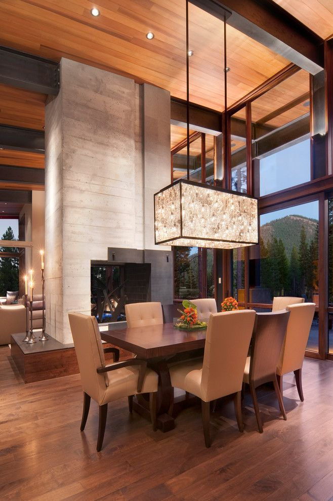 Dining Room Addition Home Design Ideas Pictures Remodel And Decor: Amazing Contemporary Ceilings Ideas In Dining Room Rustic Design Ideas With Beige Dining Chair