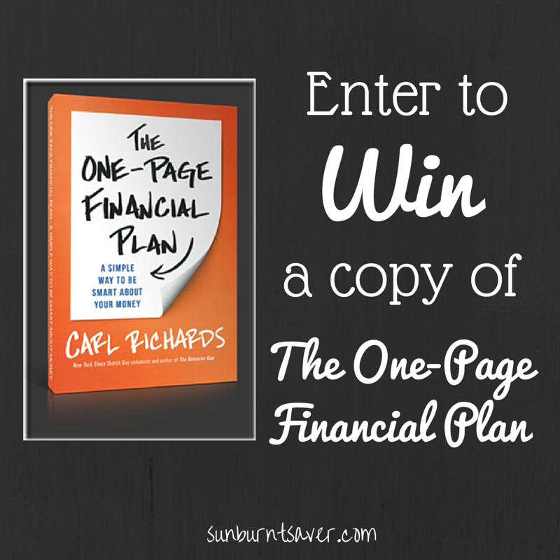 Review Of The One-Page Financial Plan