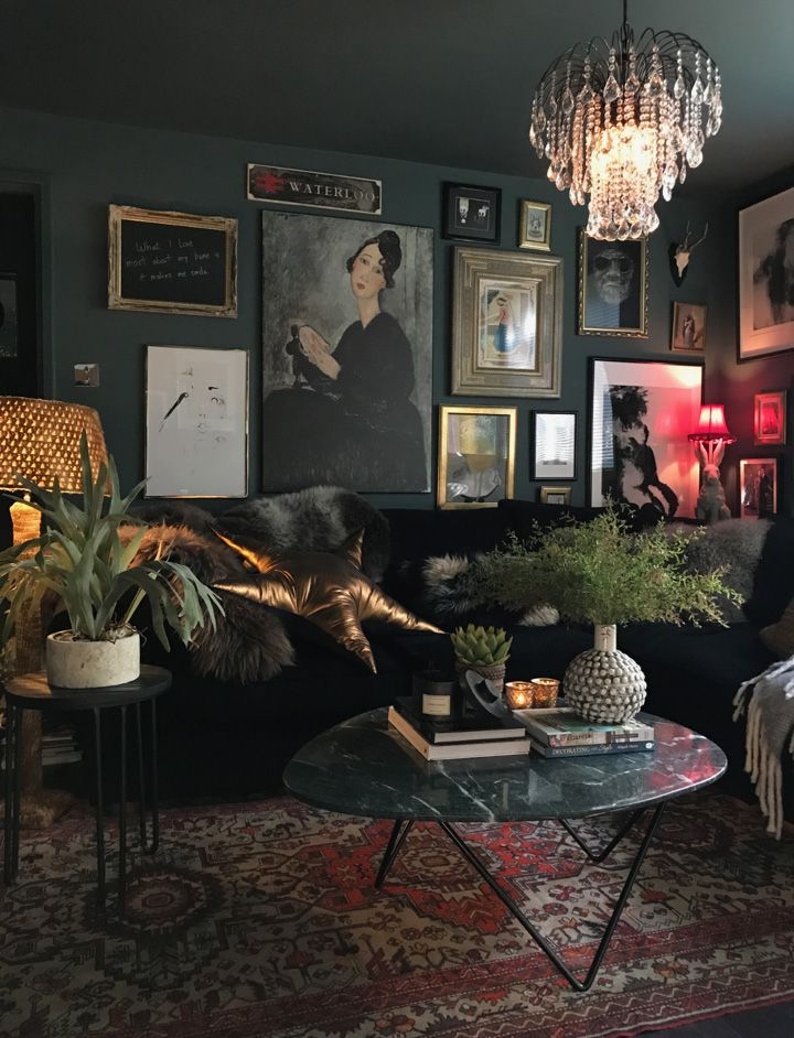 "Photo of Nicola Broughton-""The Girl with the Green Sofa""Blog HomeCatherine Ashton's Dark and Moody Abigail Ahern Inspired Home"