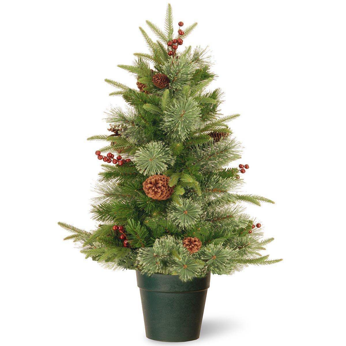 Superior 3ft Colonial Fir Potted Feel Real Artificial Christmas Tree