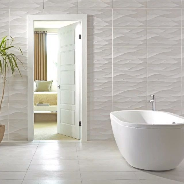 Elegant Adorn Your Walls With Texture U0026 Dimension By Using A Wavy Tile.