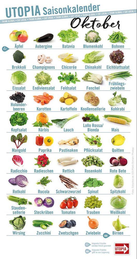Saisonkalender Oktober: Dieses Obst und Gemüse gibt es jetzt aus der Region