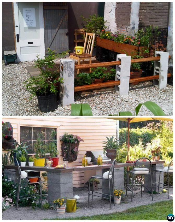 diy cinder block garden projects