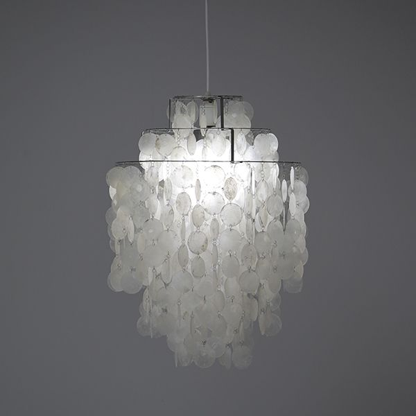 Beautiful Verner Panton chandelier Fun 1 DM original old J