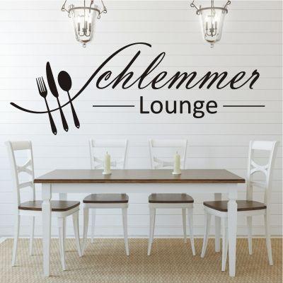 deko-shop-24de-Wandtattoo-Schlemmer Lounge Wandtattoo Küche - küchen wandtattoo sprüche