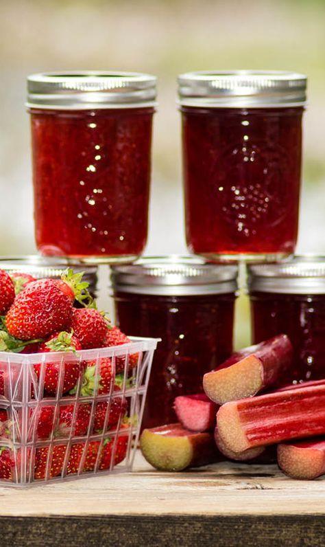 rezept f r erdbeer rhabarber marmelade rhabarber marmelade marmelade und einfach. Black Bedroom Furniture Sets. Home Design Ideas
