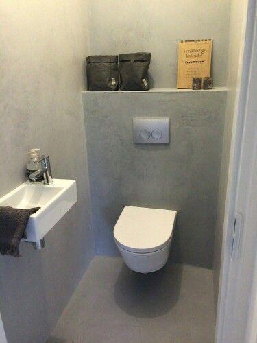 Toilet beton cire mijn woning pinterest toilet cloakroom ideas and room - Badkamer beton wax ...