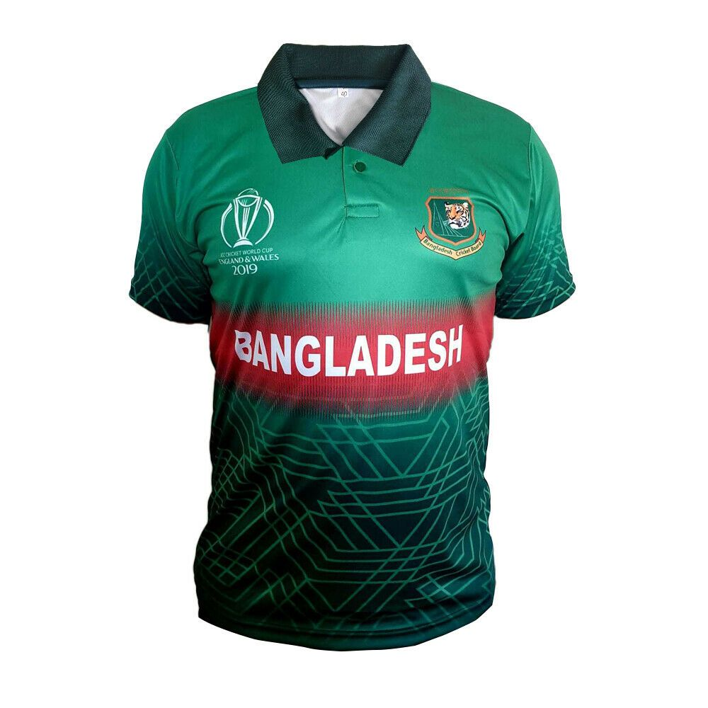 Details About Bangladesh Cricket Shirt 2019 Uk World Cup Fan Jersey In 2020 Cricket Equipment Shirts Mens Tops