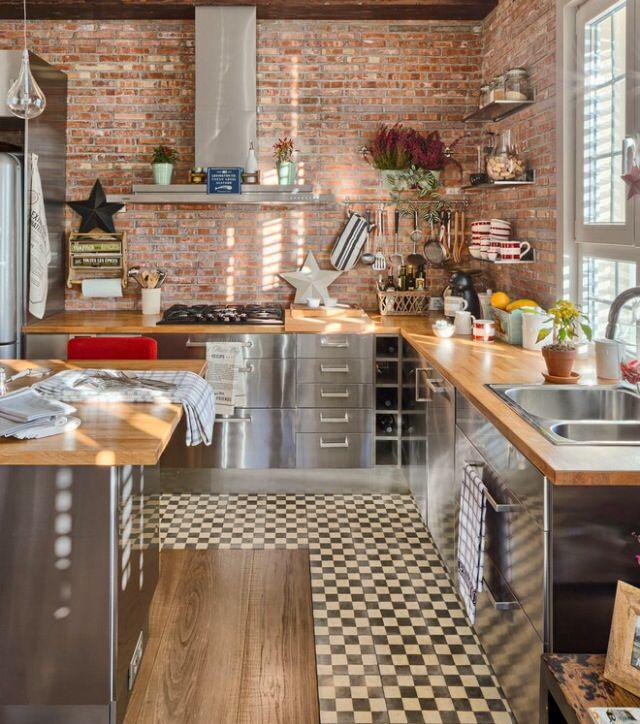 Freigelegtes Mauerwerk, Dachboden, Fliesen, Umbau, Einrichten Und Wohnen,  Wohnzimmer, Projekte, Fliesenboden, Beste Küchenentwürfe