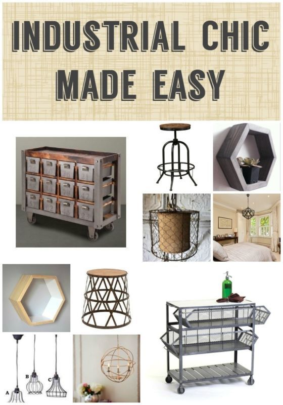 Back to your Urban Roots! Industrial Chic Made Easy! Industrial lighting, industrial home decor.