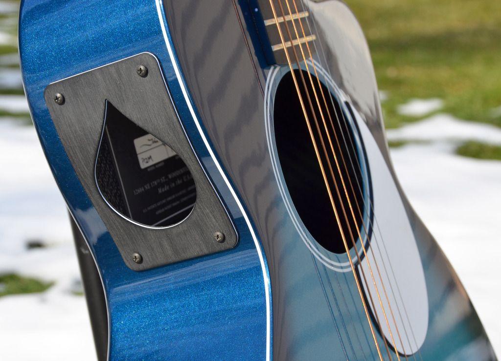For Sale Rainsong Marine Burst Blue Carbon Fiber Guitar