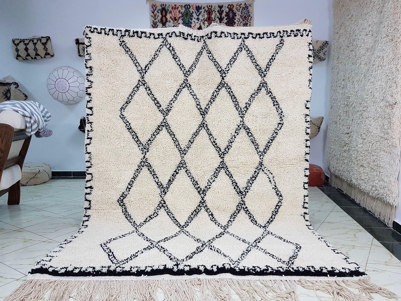 Beni ourain rug handmade moroccan rug 100/% wool carpet authentic berber carpets