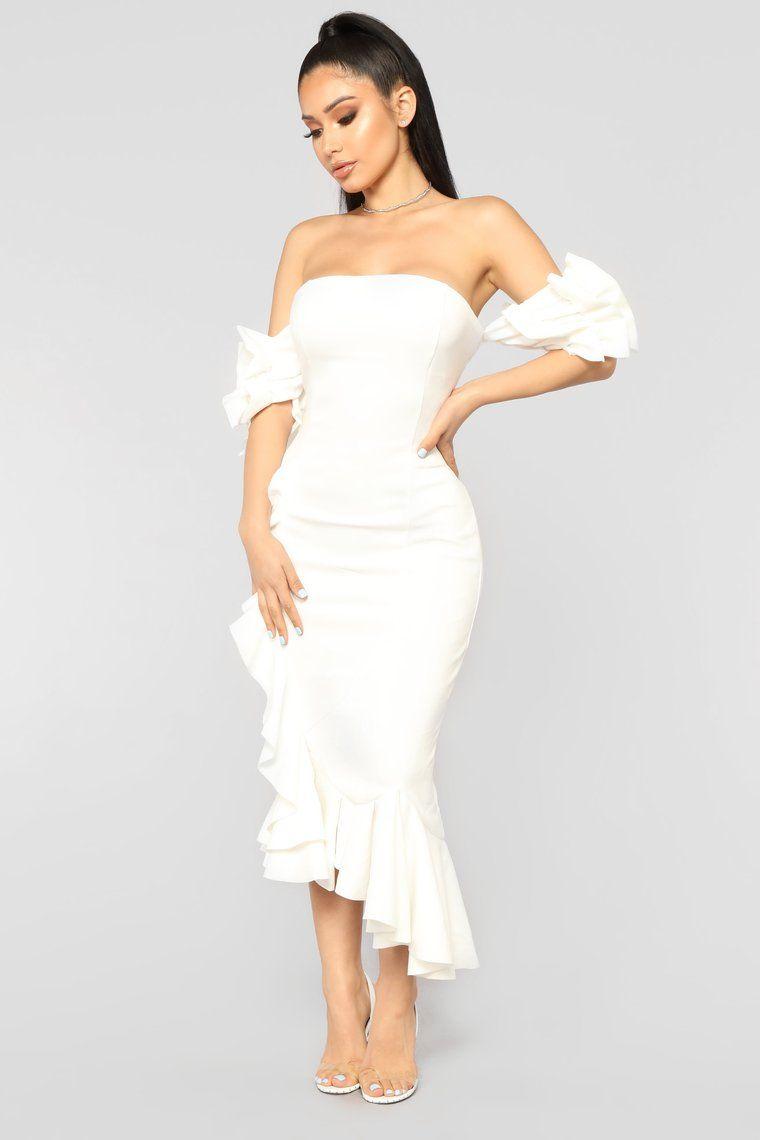 2fcf34881c4 Sweet And Sassy Midi Dress - Ivory in 2019