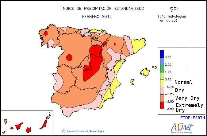 Quantitative Map Of Spain Precipitation Levels And Wildfires In - Portugal rainfall map