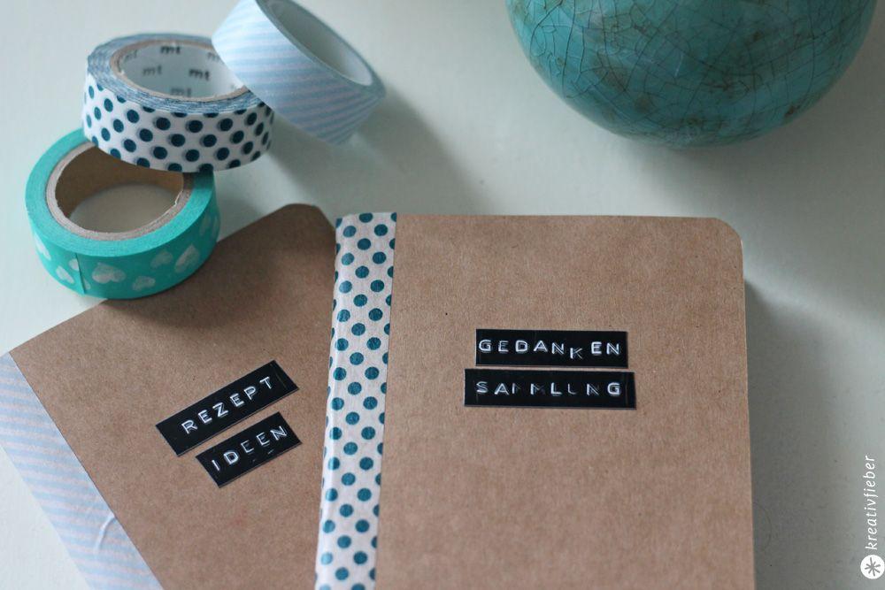 diy notizb cher versch nern kleine diy geschenkidee geschenke pinterest. Black Bedroom Furniture Sets. Home Design Ideas