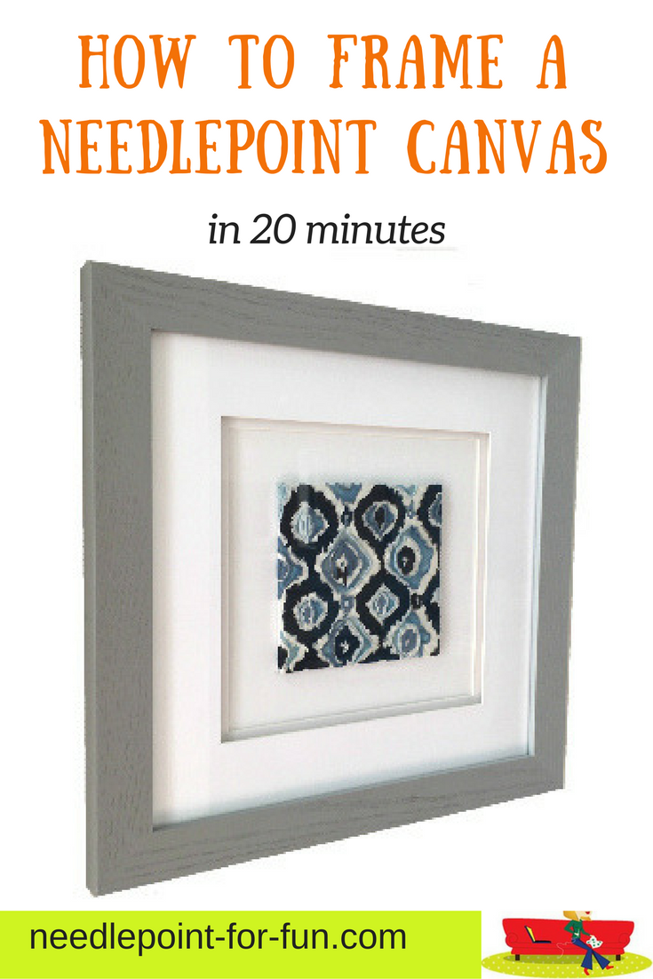 Finished a small needlepoint project? Save money by framing it ...