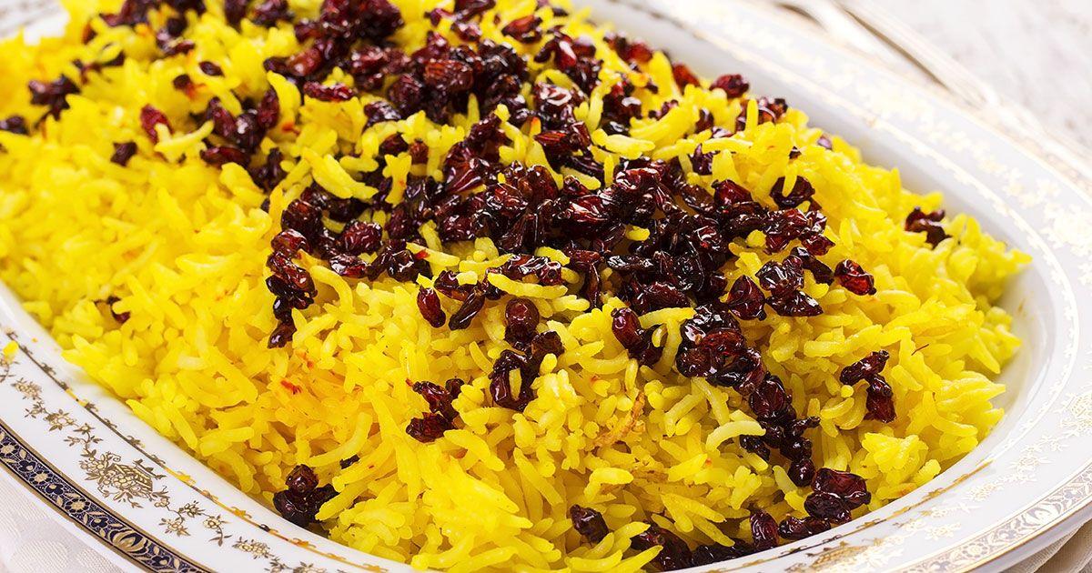 الرز الايراني Recipe Saffron Rice Saffron Rice Recipe Main Dishes