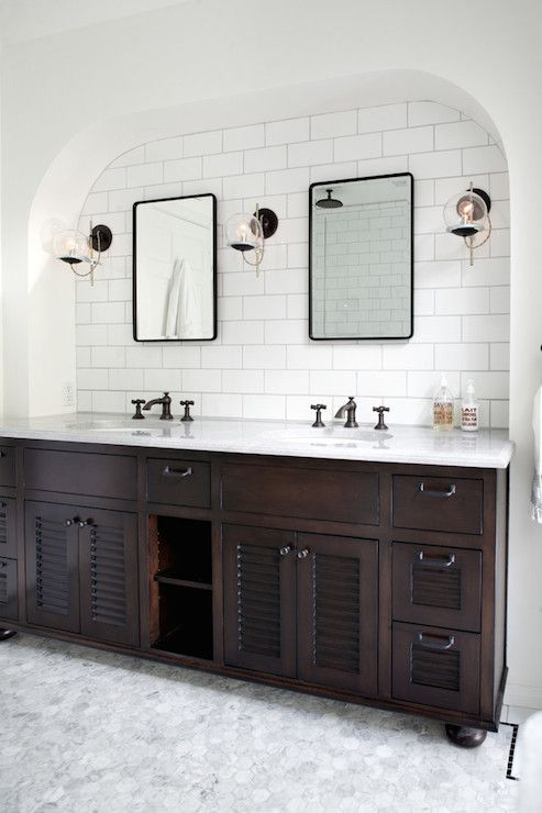 Orbit Wall Sconce Schoolhouse Electric And Supply Co : Schoolhouse Electric Orbit Wall Sconce, arched alcove, subway in the bath Pinterest ...