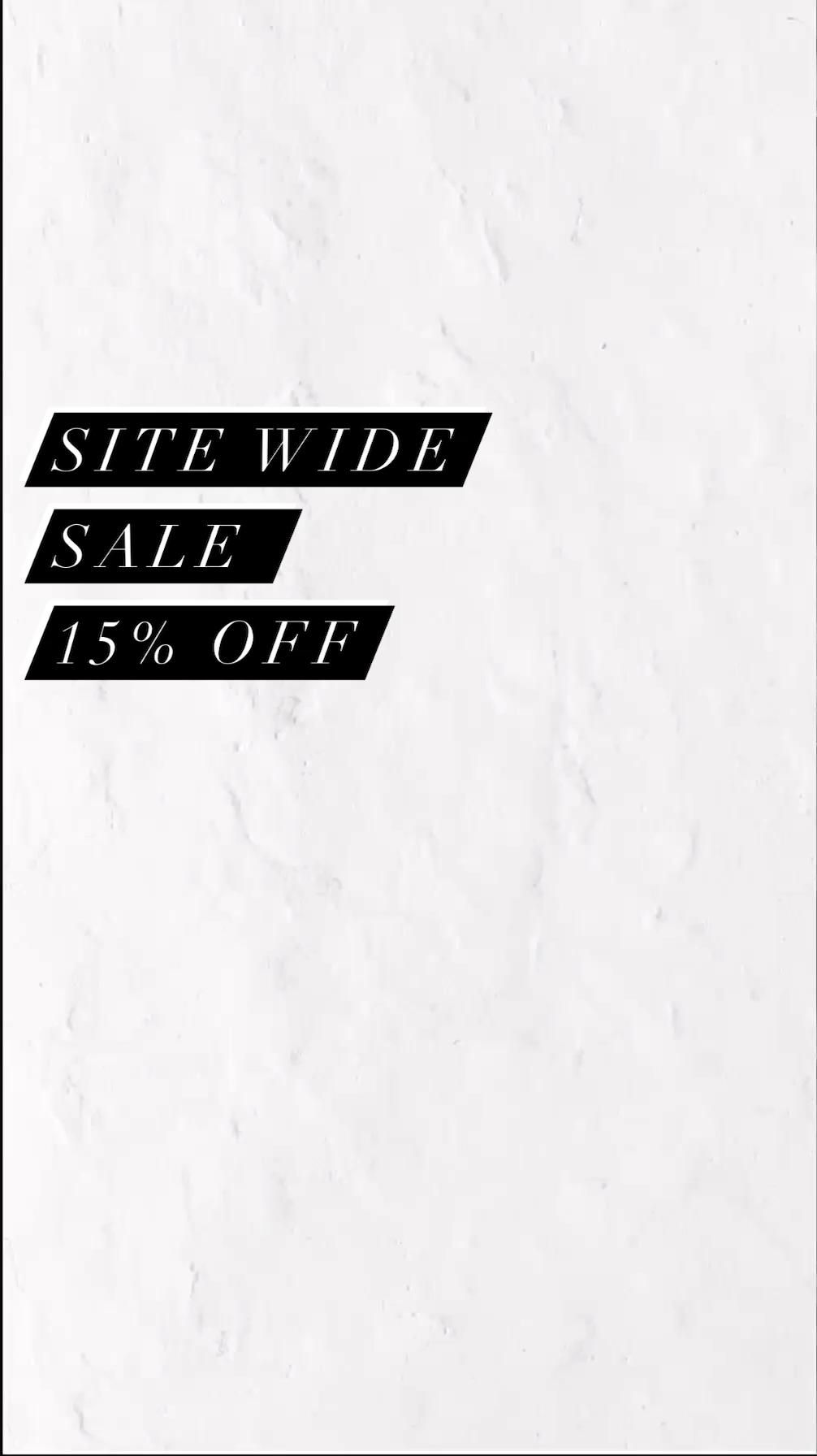 Check our 15% Off Sale - Valid till 9/30/20