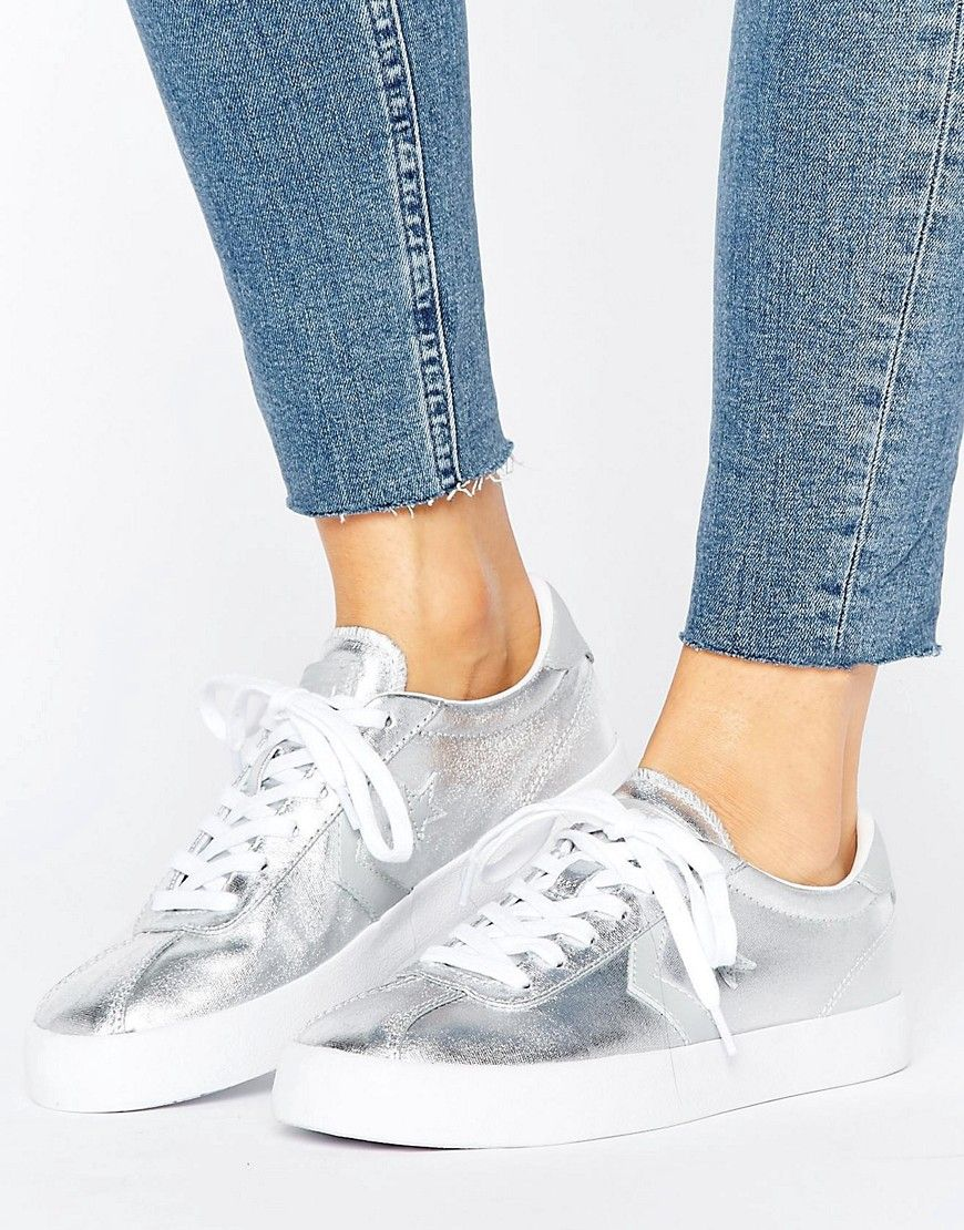 quality design e60e6 c5d4b Converse Breakpoint Ox Metallic Trainers - Silver. Trainers by Converse,  Textile upper, Metallic finish, Lace-up fastening, Branded tongue, ...