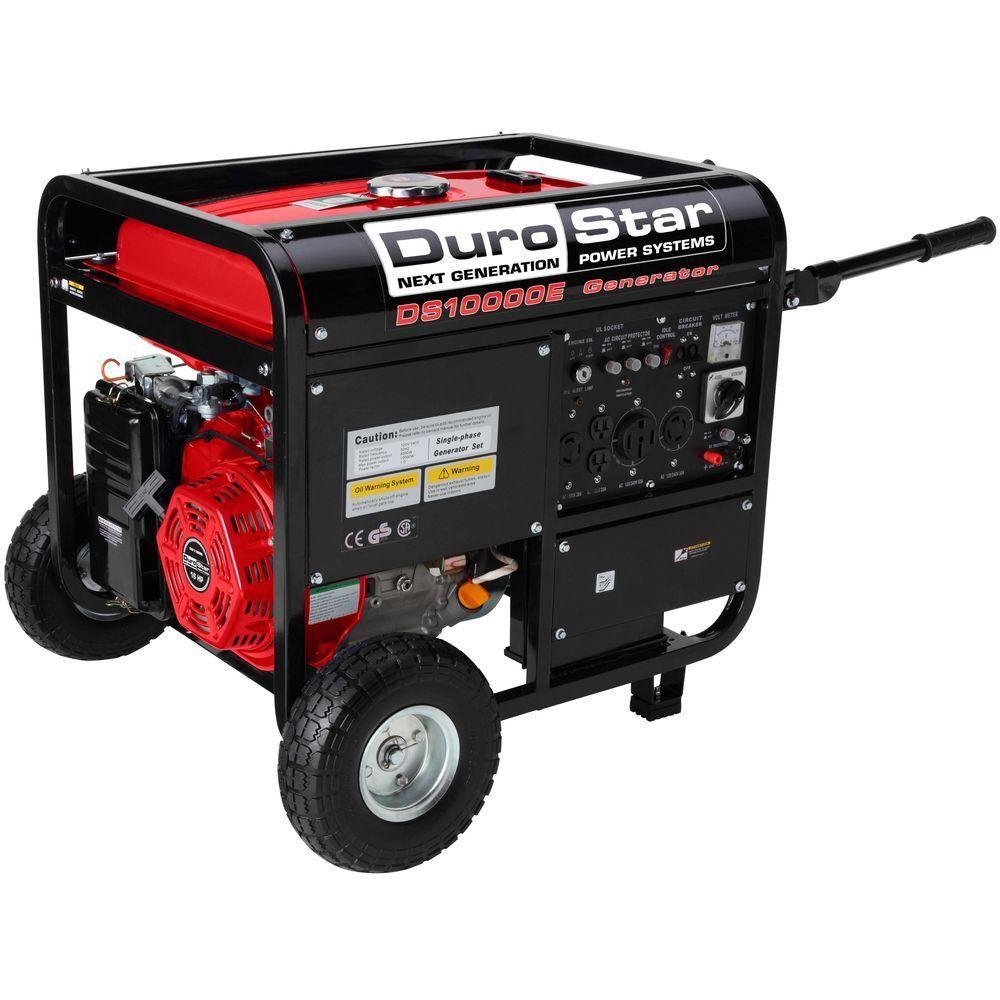 Durostar 10000 8 000 Watt Gasoline Powered Electric Start Portable Generator With Wheel Kit Ds10000e Portable Generator Electric Start Generator Best Portable Generator