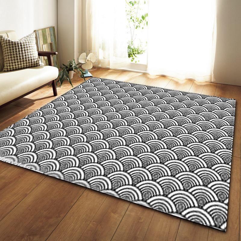 Wave Pattern Area Rug Floor Mat