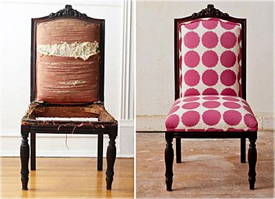 old furniture makeover. Give Old Chairs New Life Furniture Makeover