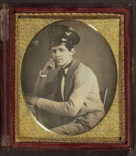 Portrait of unidentified man wearing unusual hat | Flickr - Photo Sharing!
