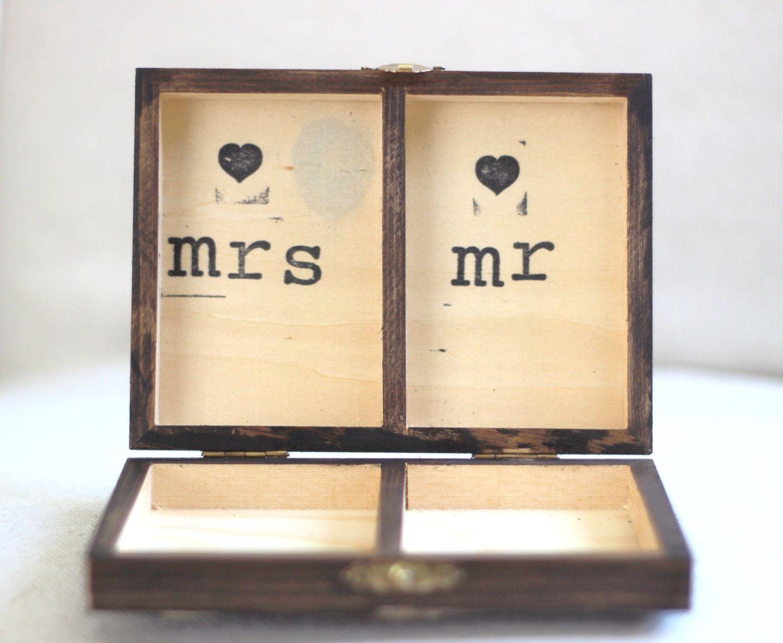 Rustikale personalisierte Ring Box. Vintage Shabby Chic Strand ...