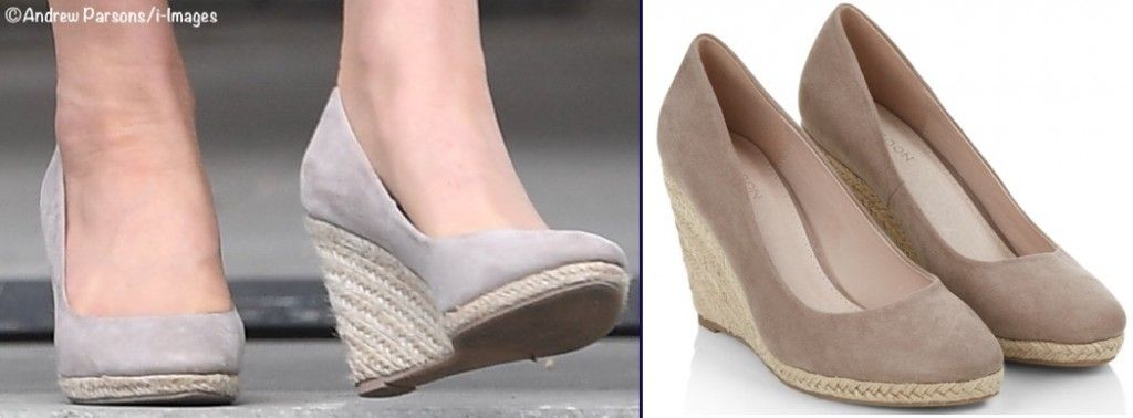 329bbb970e89 Kate also wore the Fleur espadrille wedges by Monsoon today  she also wore  this shoe at the party in Canada. ©Andrew Parsons