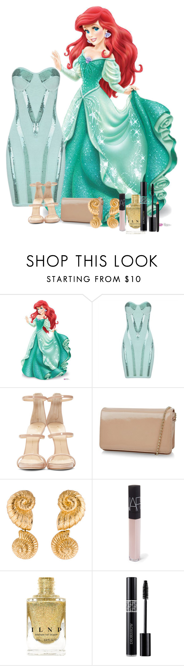 """Ariel Formal"" by xxmonnyxx on Polyvore featuring Giuseppe Zanotti, Hobbs, Christian Dior, NARS Cosmetics and INIKA"