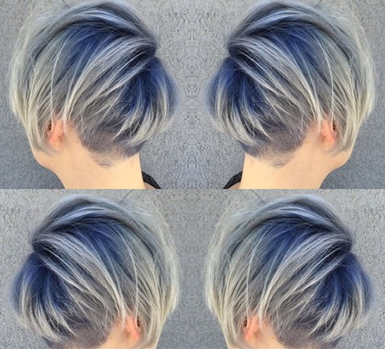 Want Teal Roots Gray Ombre Hair Color Short Hair Images Hair Color