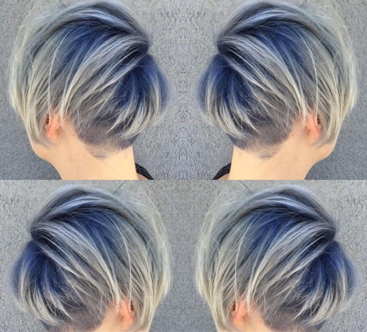 Want Teal Roots Gray Short Hair Images Balayage Hair Dark