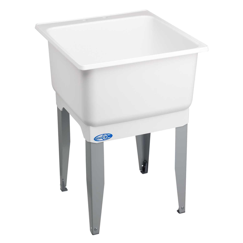 Utilatub 23 In W X 25 In D Single Polypropylene Laundry Tub Laundry Tubs Laundry Sink Utility Sink