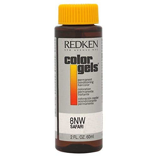 Redken Color Gels Permanent Conditioning 8NW Safari Hair Color for Unisex, 2 Ounce * To view further for this item, visit the image link.