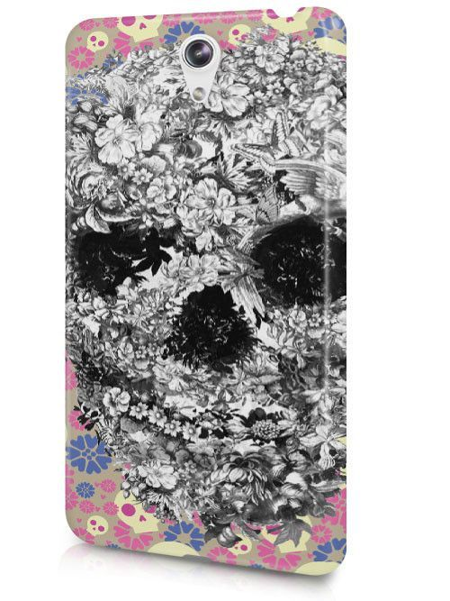 Cool Dark Evil Skull Floral Punk Sketch Art Case Cover Design for LeTV Phone
