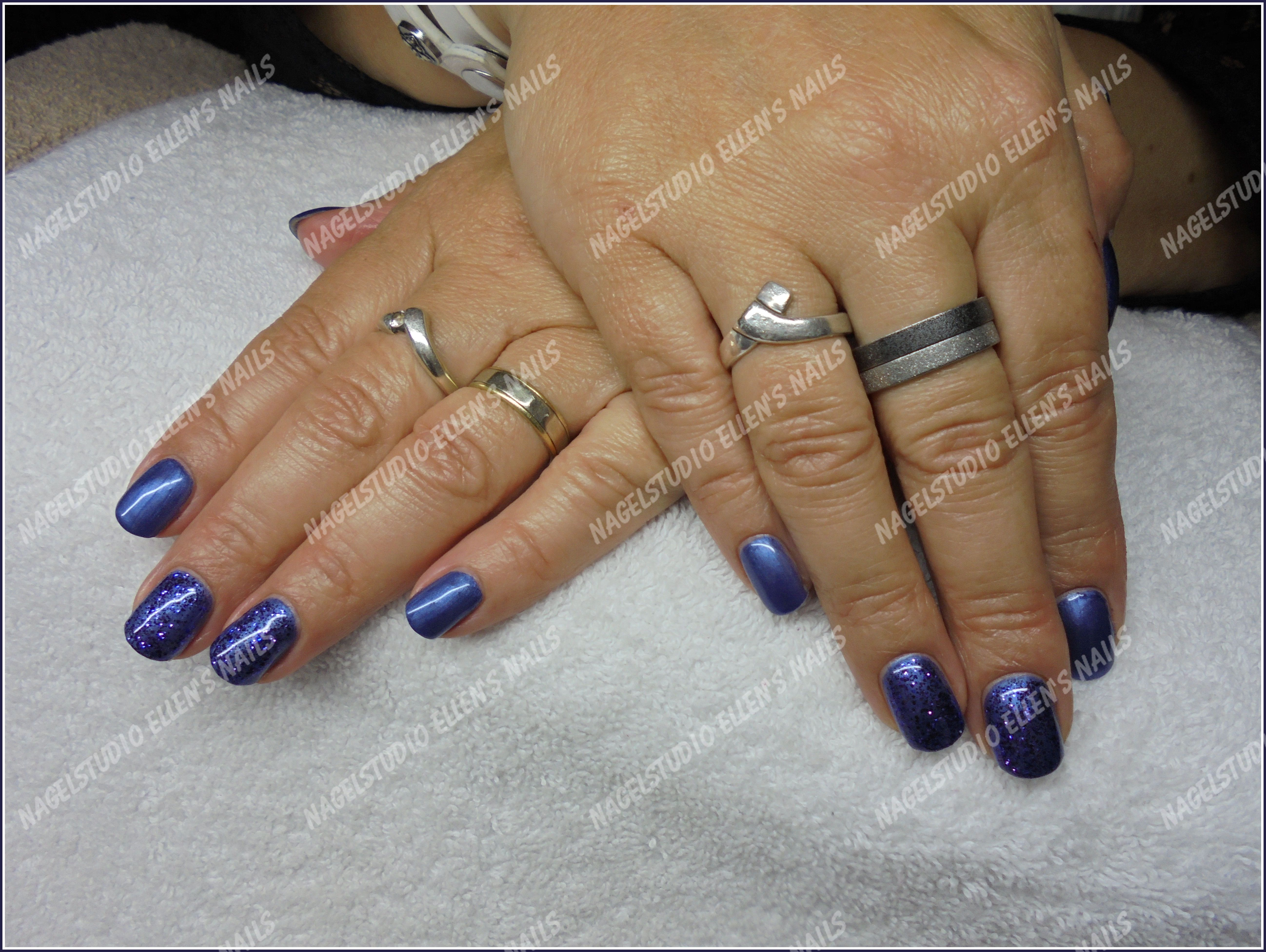 Blue with Glitters