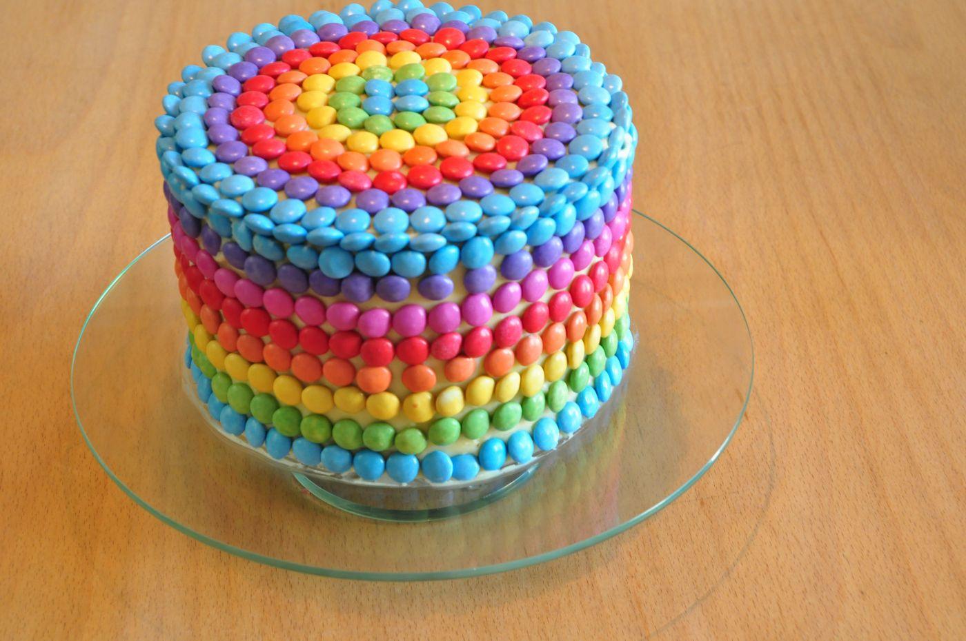 rainbow-Cake german recipe // Regenborgen-Torte mit Rezept  sehr lecker :)