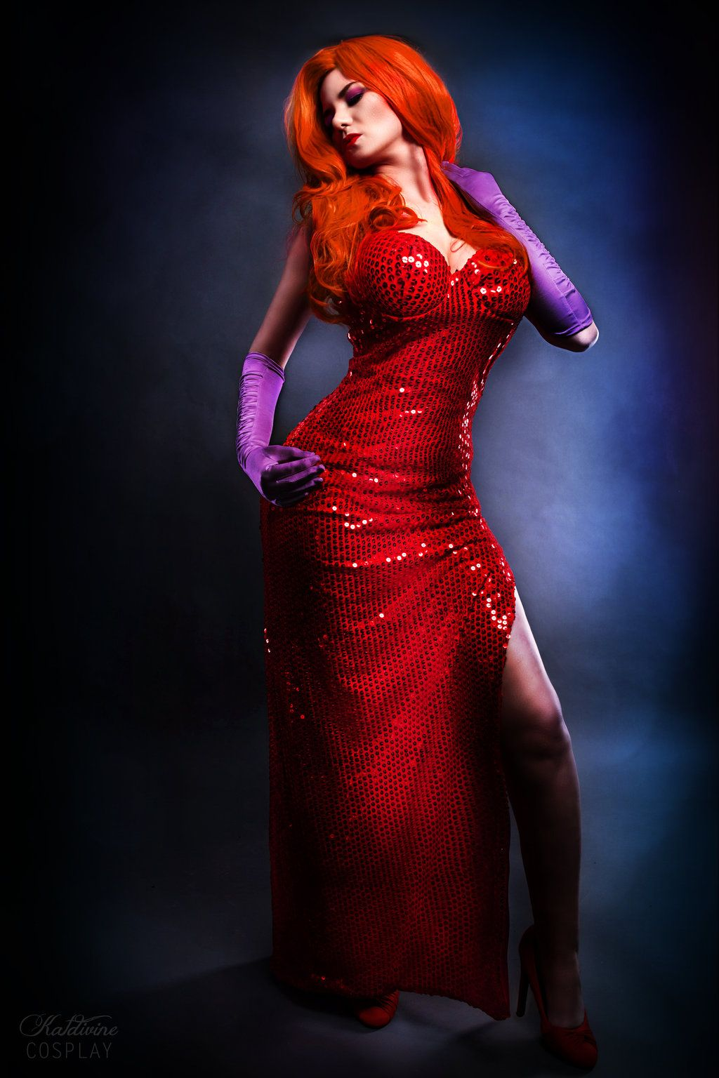 Kat Divine as Jessica Rabbit.