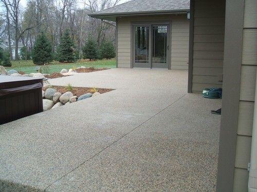 Photo Exposed Aggregate Patio Sidewalk   Evenson Concrete Systems, Inc.