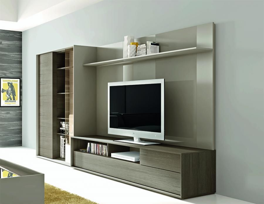 Next contemporary wall storage system with tv unit and - Storage units living room furniture ...