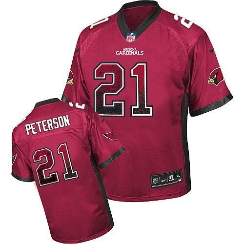 4cb5cdc022c7 ... 2013 Arizona Cardinals 21 Patrick Peterson Red Team Color Men  Embroidered Elite Men Nike NFL Drift .