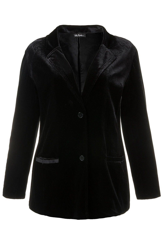 77ac666e7c13b Ulla Popken Women s Plus Size Velvet Fitted Jacket Blazer 707386    Click  image to review more details.