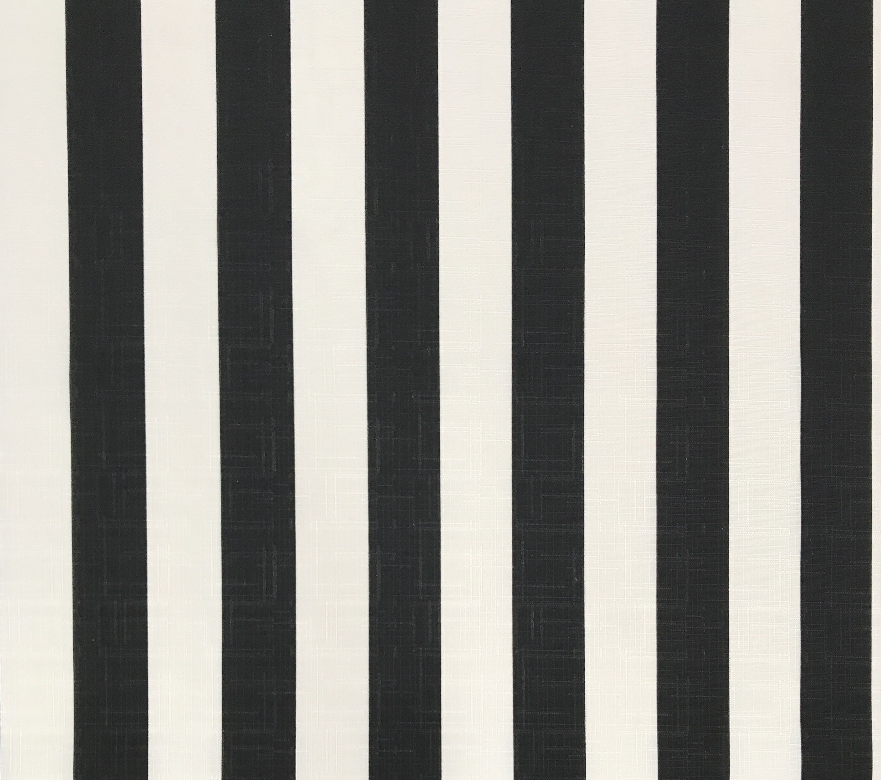 Classic Black And White Stripe Outdoor Fabric Snack Shack
