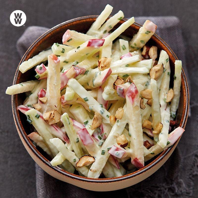 Kohlrabi-Apfel-Salat mit Joghurtdressing