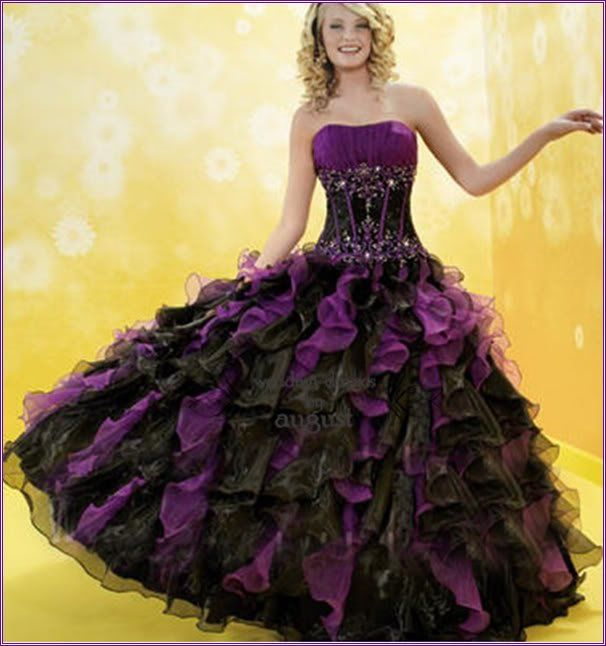 Bridal Wedding Dresses Bridesmaid Black Mary S Purple
