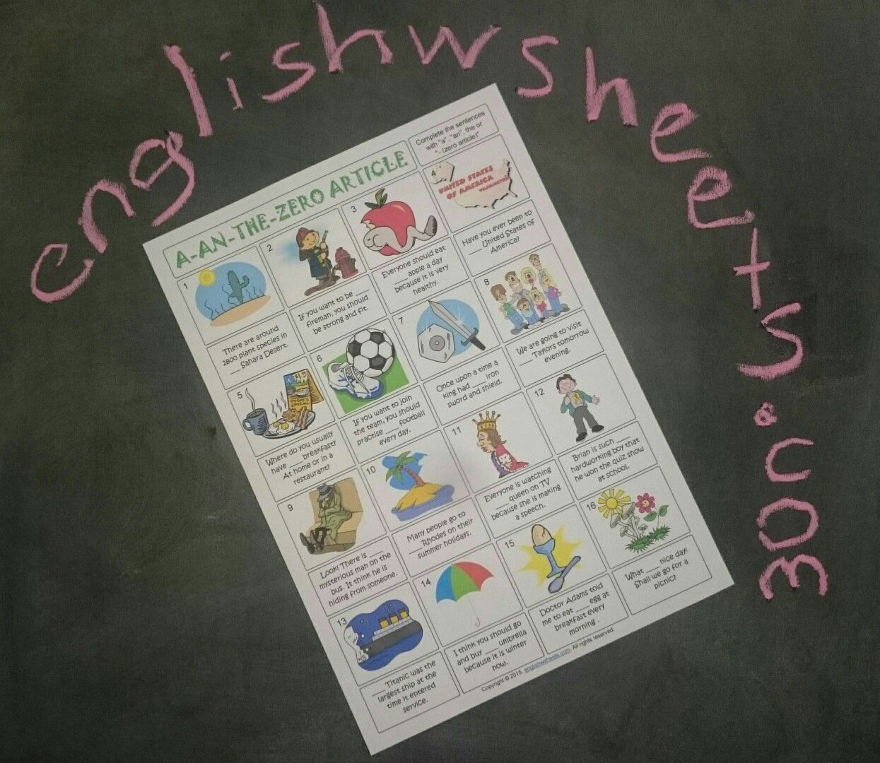 Articles Esl Printable Gap Fill Exercise Worksheet