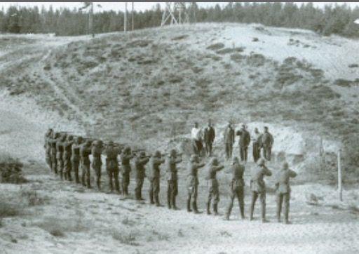 Russian civilians being executed by German soldiers in September, 1941; Kiev, Ukraine