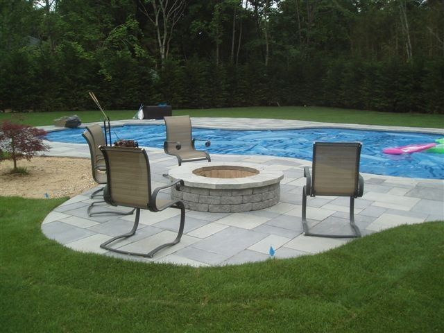 Imagine Relaxing By Your Cambridge Fire Pit On Your Cambridge Pool Patio!