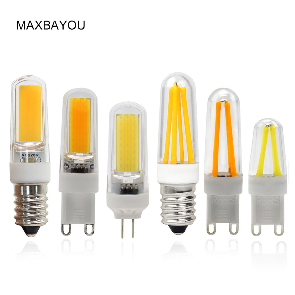 Universe Of Goods Buy Dimmable G4 G9 E14 Led Bulb Lamps Cob Filament Led Lamp Bulbs 2w 4w 220v 110v Light For Chandelier Li Halogen Bulbs Lamp Bulb Led Bulb